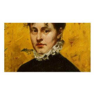 Caza de Guillermo Retrato de la cuñada del artist Plantillas De Tarjetas Personales