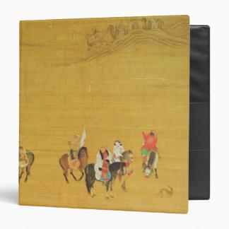 """Caza de Kublai Khan, dinastía de Yuan Carpeta 1 1/2"""""""