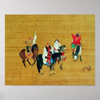 Caza de Kublai Khan, dinastía de Yuan Póster