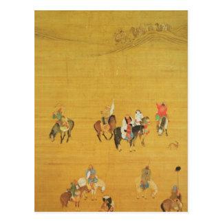 Caza de Kublai Khan, dinastía de Yuan Tarjeta Postal