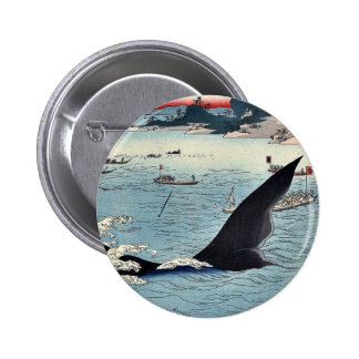 Caza de la ballena en Hizen por Utagawa, Hiroshige Pins