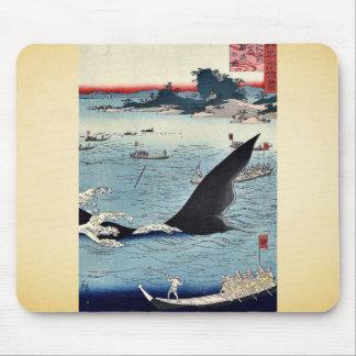 Caza de la ballena en Hizen por Utagawa, Hiroshige Tapete De Ratón