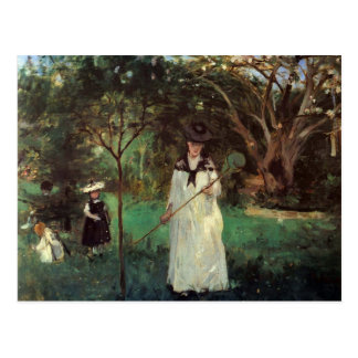 Caza de la mariposa de Berthe Morisot Postales