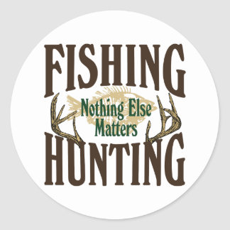 Caza de la pesca nada materias otras etiqueta redonda