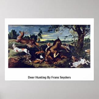 Caza de los ciervos de Francisco Snyders Impresiones