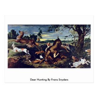 Caza de los ciervos de Francisco Snyders Tarjetas Postales