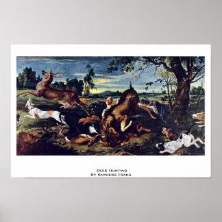 Caza de los ciervos de Snyders Francisco Posters