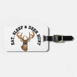 Caza de los ciervos etiquetas para equipaje