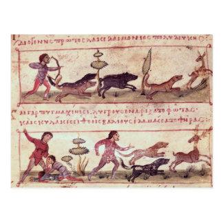 Caza de los ciervos tarjetas postales