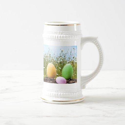 Caza de los huevos de Pascua Jarra De Cerveza