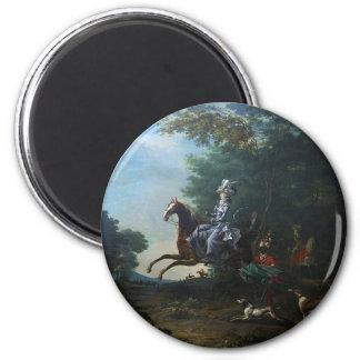 Caza de Marie Antonieta de Louis Auguste Brun Imán Redondo 5 Cm