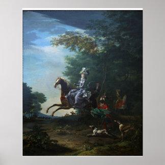 Caza de Marie Antonieta de Louis Auguste Brun Impresiones