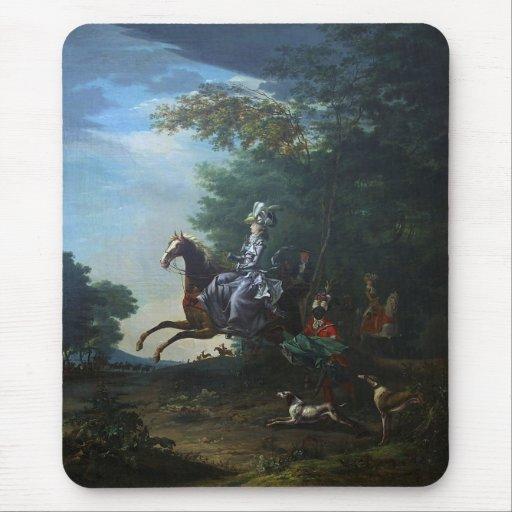 Caza de Marie Antonieta de Louis Auguste Brun Alfombrilla De Ratón