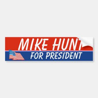 Caza de Mike para presidente Template Pegatina De Parachoque