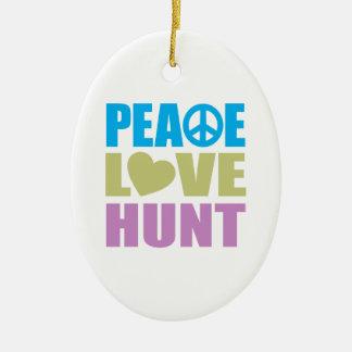 Caza del amor de la paz adornos