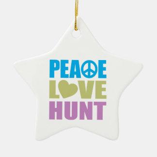 Caza del amor de la paz ornamentos para reyes magos