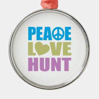 Caza del amor de la paz adorno
