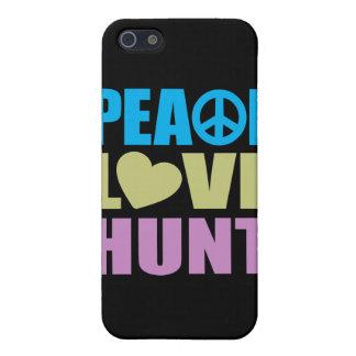 Caza del amor de la paz iPhone 5 carcasa