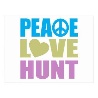 Caza del amor de la paz tarjeta postal