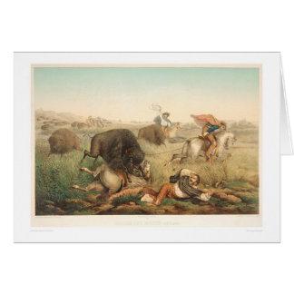 Caza del bisonte (0008A) Tarjeta De Felicitación