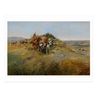 Caza del búfalo, 1891 (aceite en lona) postales