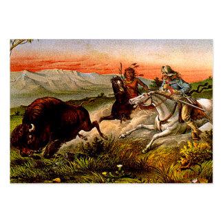 Caza del búfalo de la CAMISETA Tarjetas De Visita