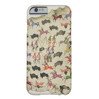 Caza del búfalo (pigmento en alce-piel) funda de iPhone 6 barely there