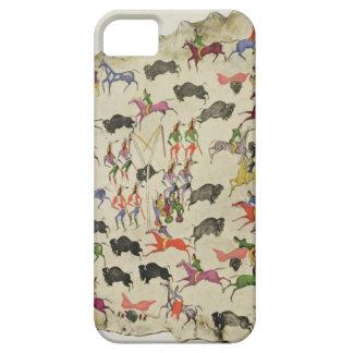Caza del búfalo (pigmento en alce-piel) funda para iPhone 5 barely there