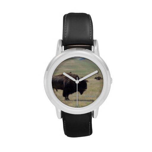 Caza del búfalo relojes de pulsera