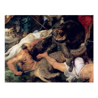 Caza del Hippopotamus y del cocodrilo, c.1615-16 Postales