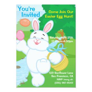 Caza del huevo de la celebración de la primavera invitación 12,7 x 17,8 cm