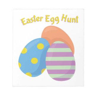 Caza del huevo de Pascua Blocs De Notas