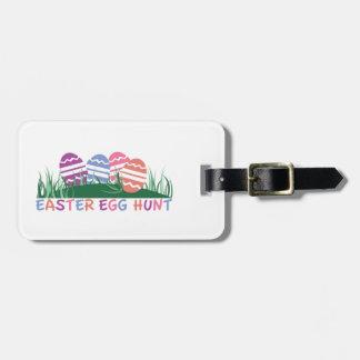 Caza del huevo de Pascua Etiquetas Para Equipaje