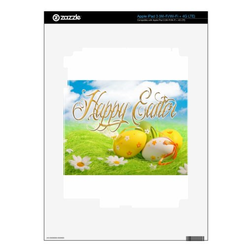 Caza del huevo de Pascua iPad 3 Pegatinas Skins