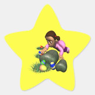 Caza del huevo de Pascua Pegatinas Forma De Estrellaes Personalizadas