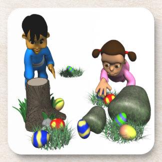 Caza del huevo de Pascua Posavasos De Bebidas