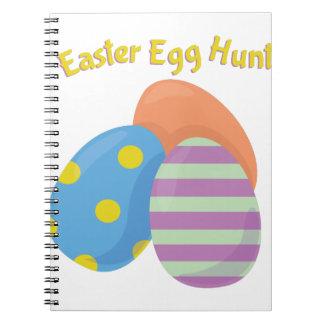 Caza del huevo de Pascua Spiral Notebooks