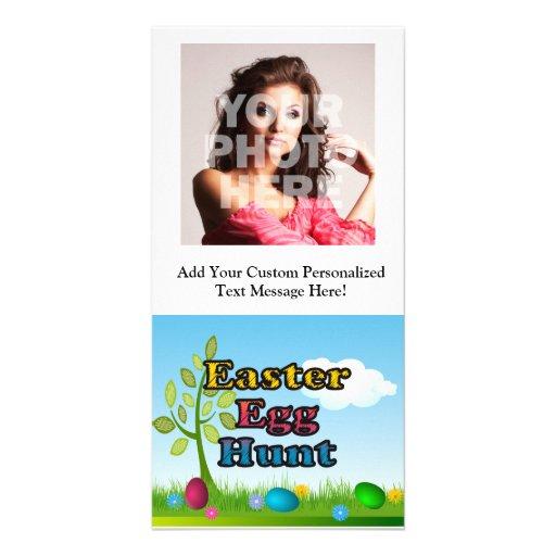 Caza del huevo de Pascua Plantilla Para Tarjeta De Foto