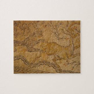 Caza del leopardo del mosaico puzzles con fotos