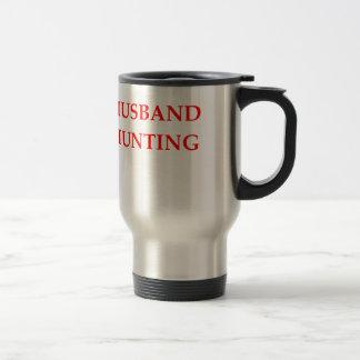 caza del marido taza de viaje de acero inoxidable