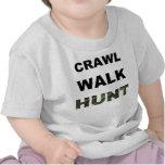 caza del paseo del arrastre camisetas