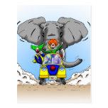 Caza del payaso del dibujo animado de Ben Jones Postal
