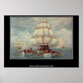 Caza del poster 1813 de la constitución
