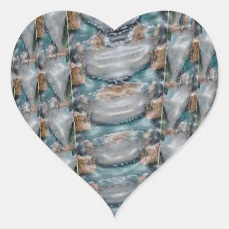 Caza del tesoro de STBX - el azul gotea piedras de Pegatina En Forma De Corazón
