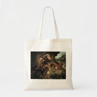 Caza del tigre de Eugene Delacroix- Bolsa Lienzo