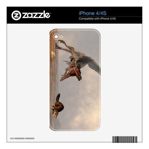 Caza del Velociraptor Calcomanía Para iPhone 4