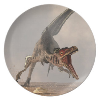 Caza del Velociraptor Plato De Comida