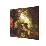 Caza del verraco, 1611 impresiones en lona estiradas