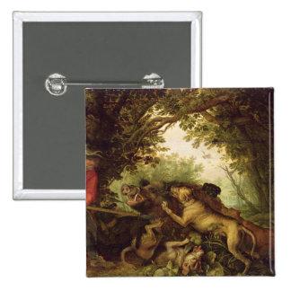 Caza del verraco, 1611 pin cuadrada 5 cm