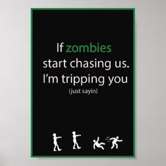 Caza del zombi póster